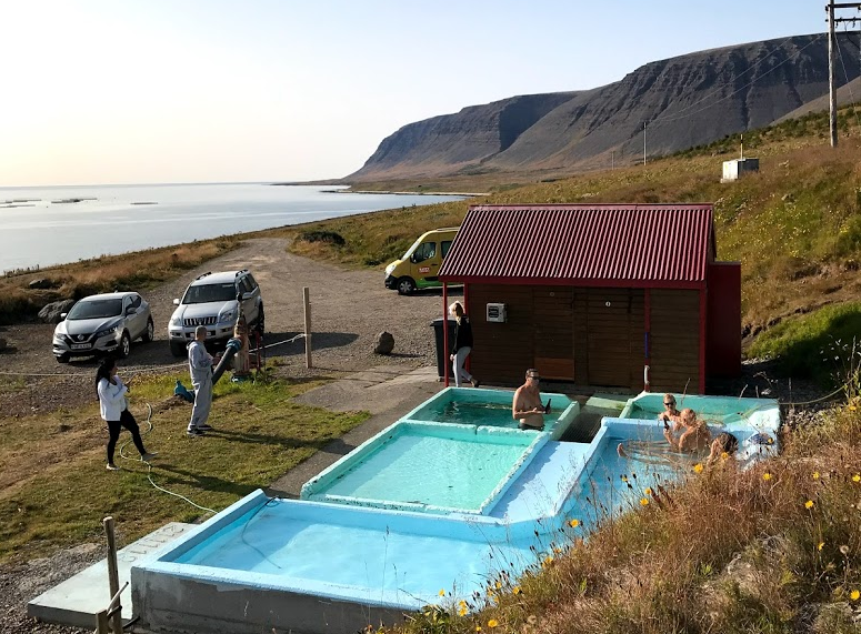 pollurinn hot spring in Talknafjordur in westfjords of Iceland