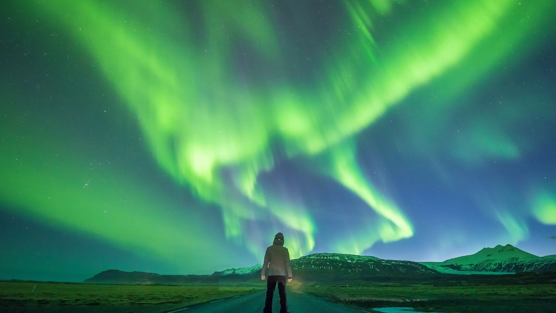 northern lights in Iceland on the ultimate reykjavik night tour