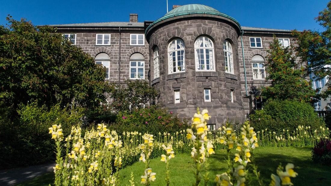 Alþingishusið in downtown Reykjavik