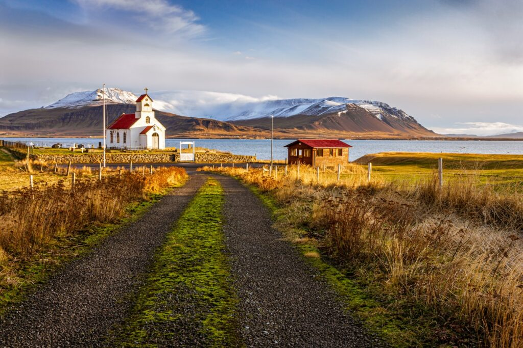 Akranes village in west Iceland