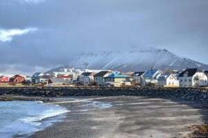 Akranes village in west Iceland