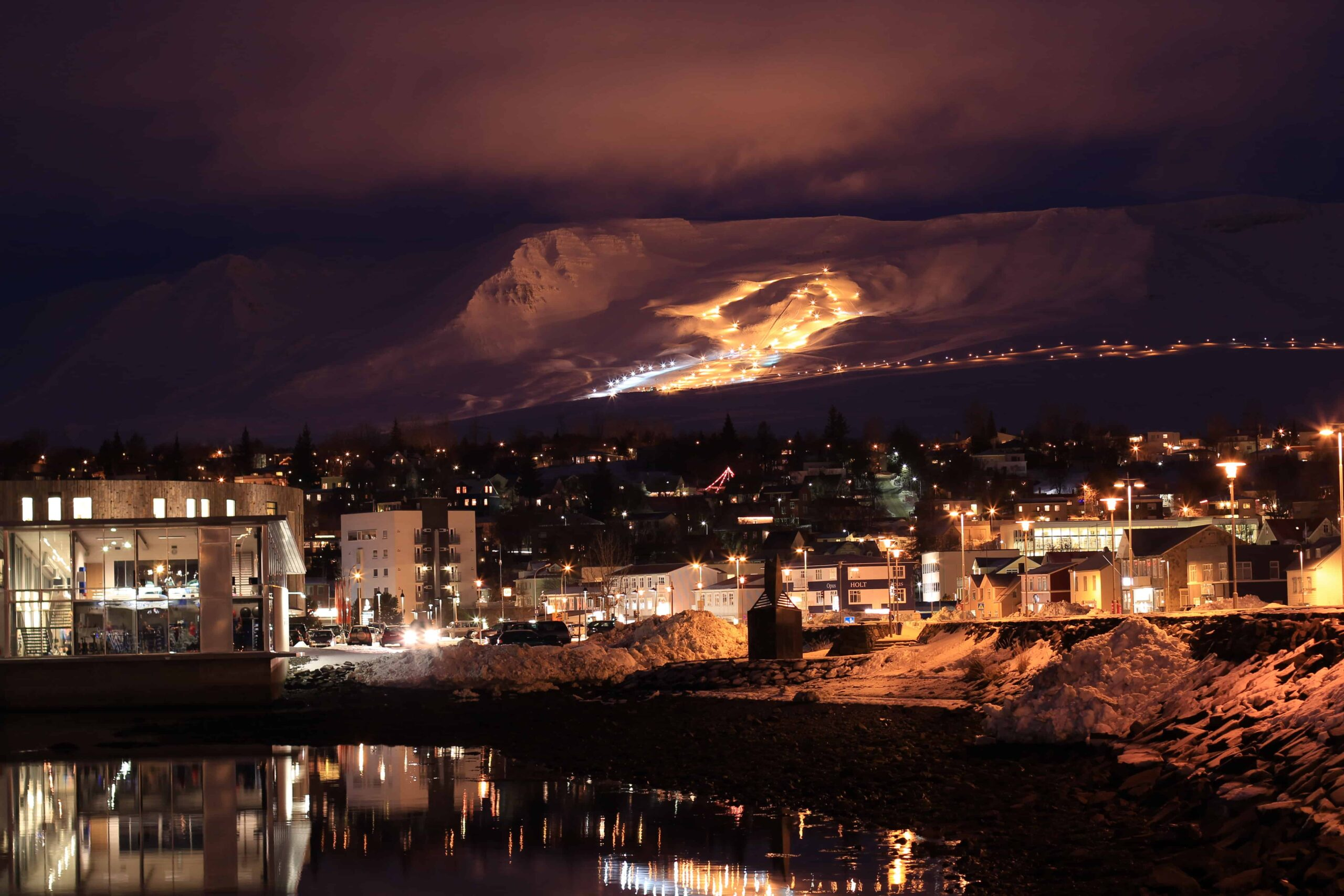 new years and Christmas in Akureyri north Iceland
