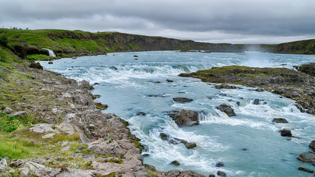 Urriðafoss waterfall in south Iceland
