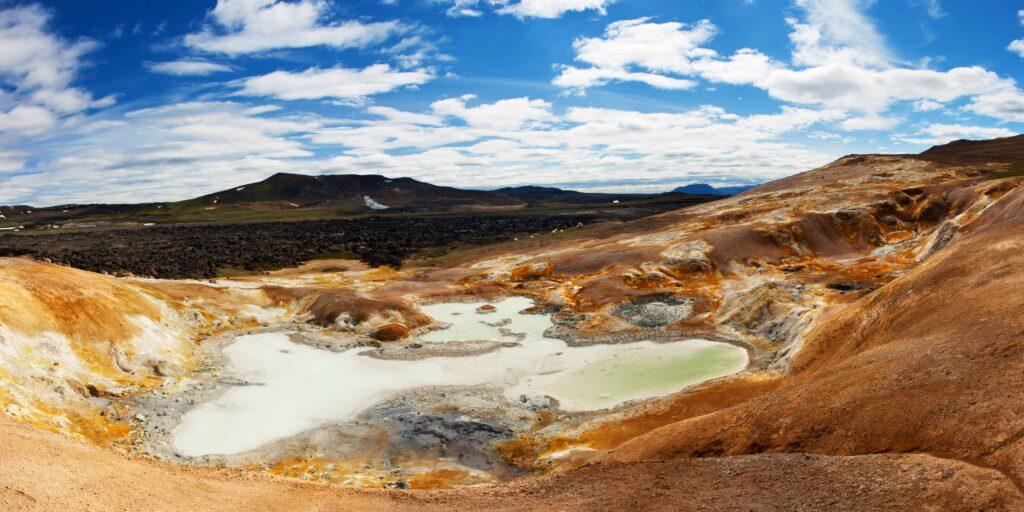 Leirhnjukur geothermal fields in north Iceland