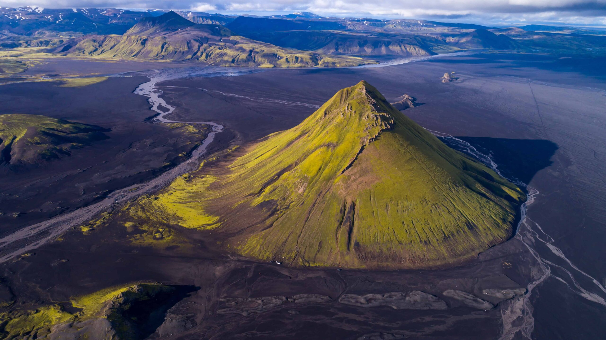 Mælifell volcano mountain in the highlands of Iceland