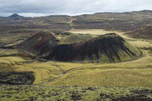 Grábrók volcano in west Iceland