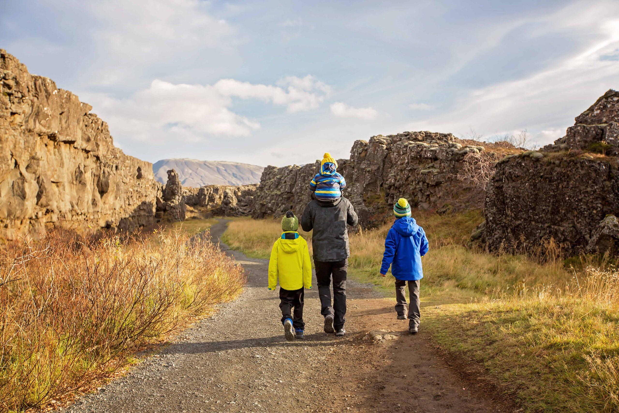 Iceland Family Travel in Thingvellir National Park
