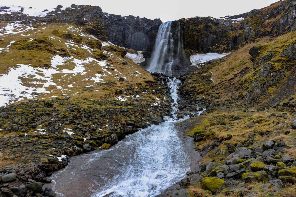 Ólafsvík waterfall in Snæfellsnes Peninsula