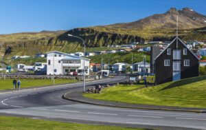 Ólafsvík fishing village in Snæfellsnes Peninsula