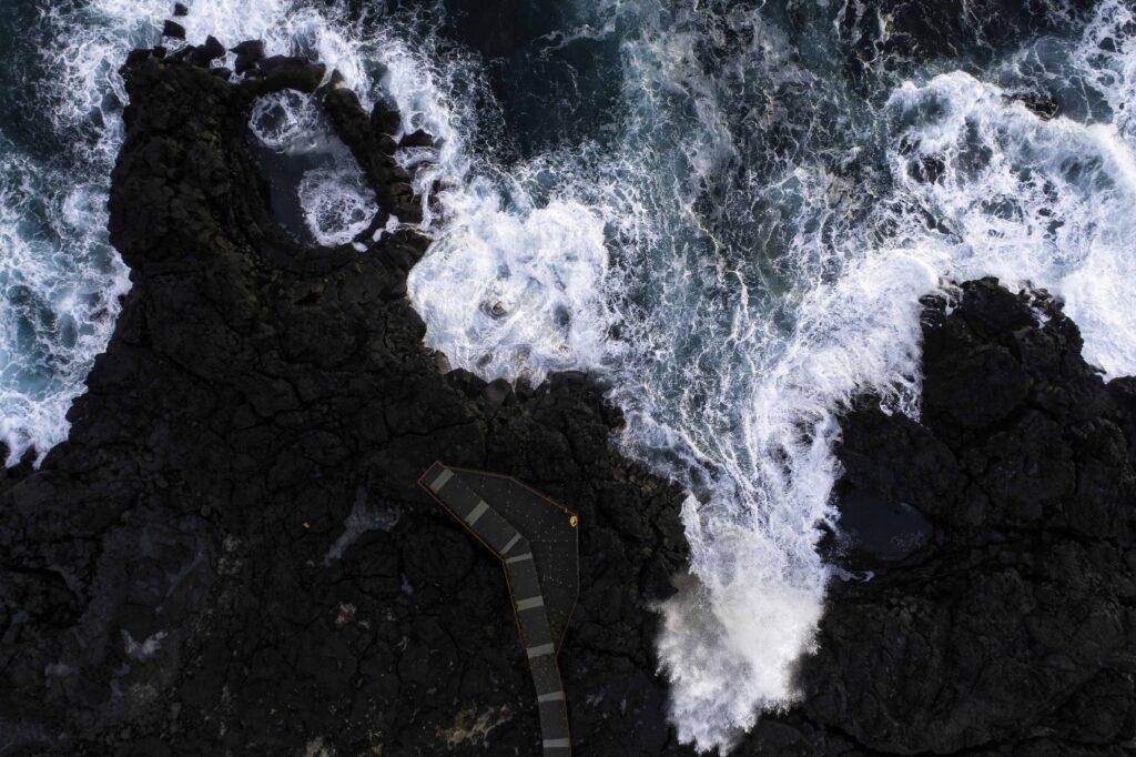 Brimketill hot spring in Reykjanes Peninsula