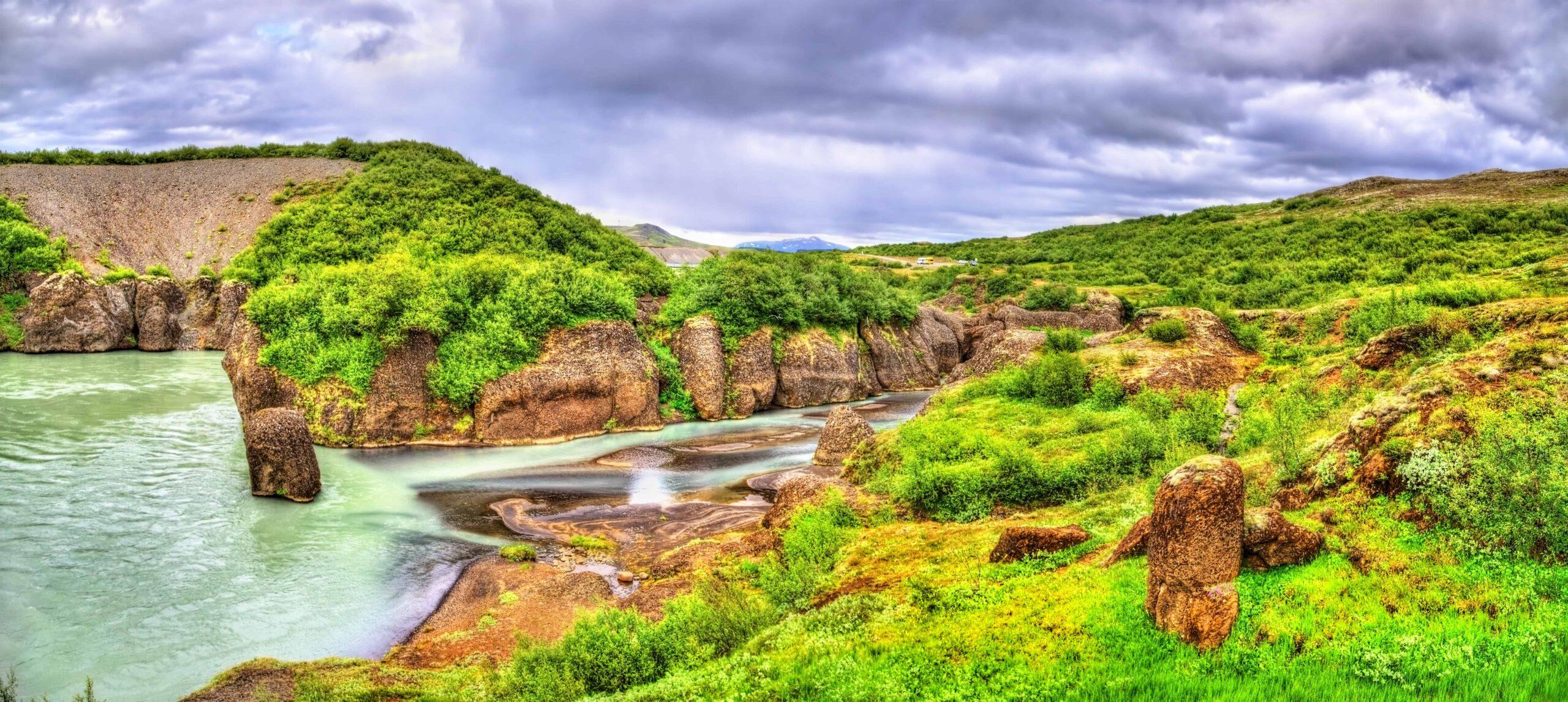 Brúarhlöð canyon in the Golden Circle