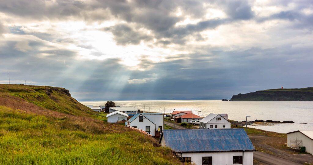 Drangsnes village in the Westfjords of Iceland
