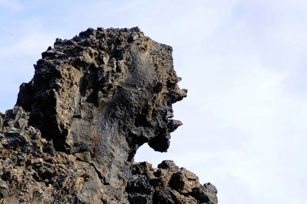 Elves & Trolls in Iceland, troll face in Iceland