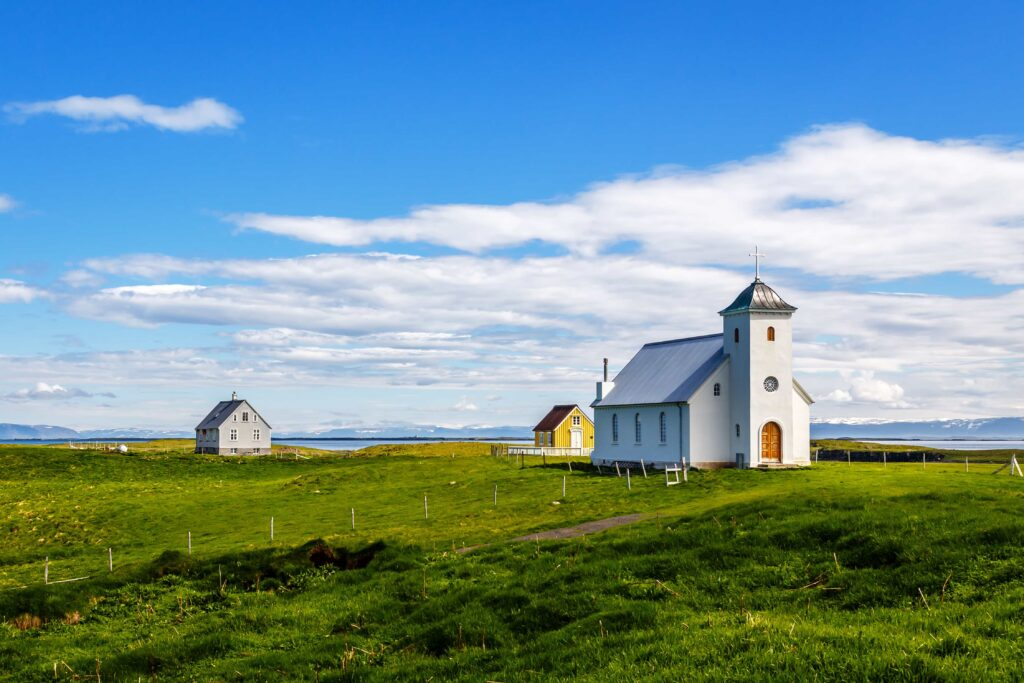 Flatey Island in west Iceland