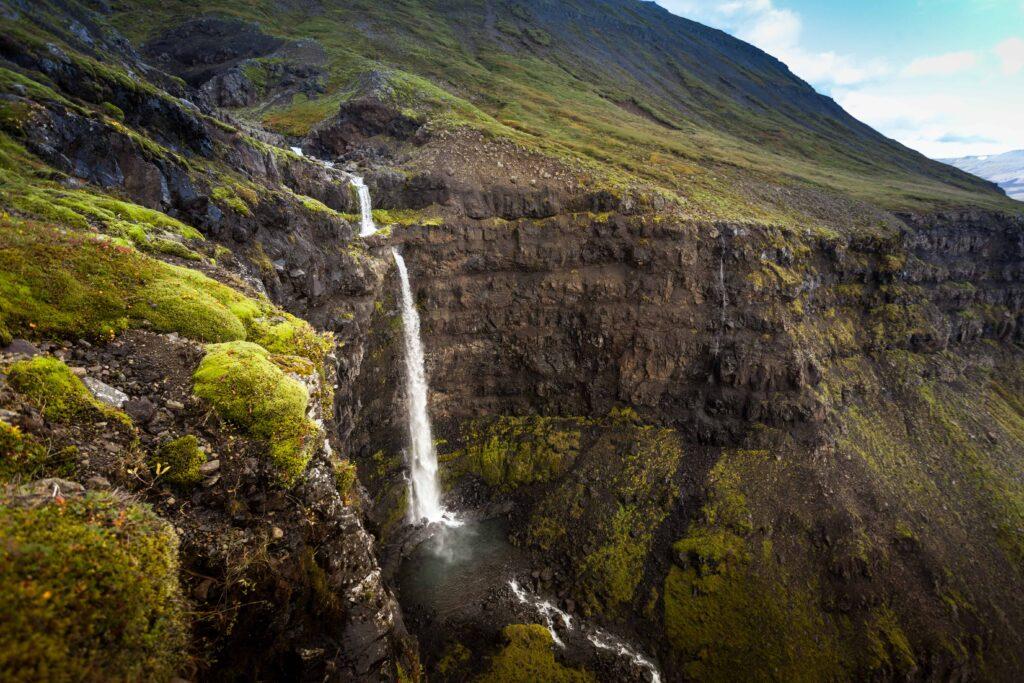 Flögufoss waterfall in East Iceland