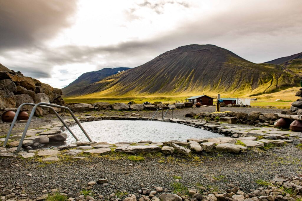 Grettislaug hot spring in north Iceland