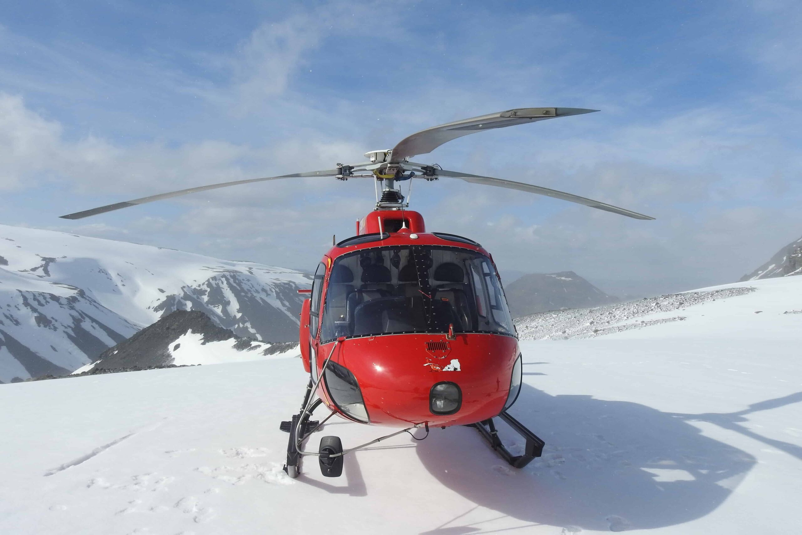 Helicopter in Iceland