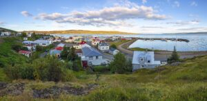 Hólmavík village in the Westfjords of Iceland