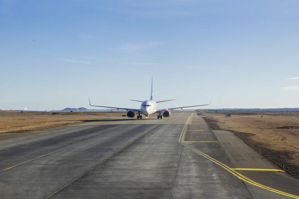 airplane in Keflavik Airport