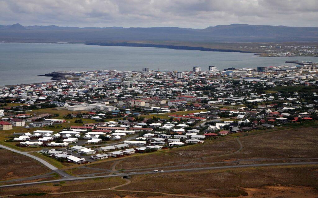Keflavik village in Reykjanes Peninsula
