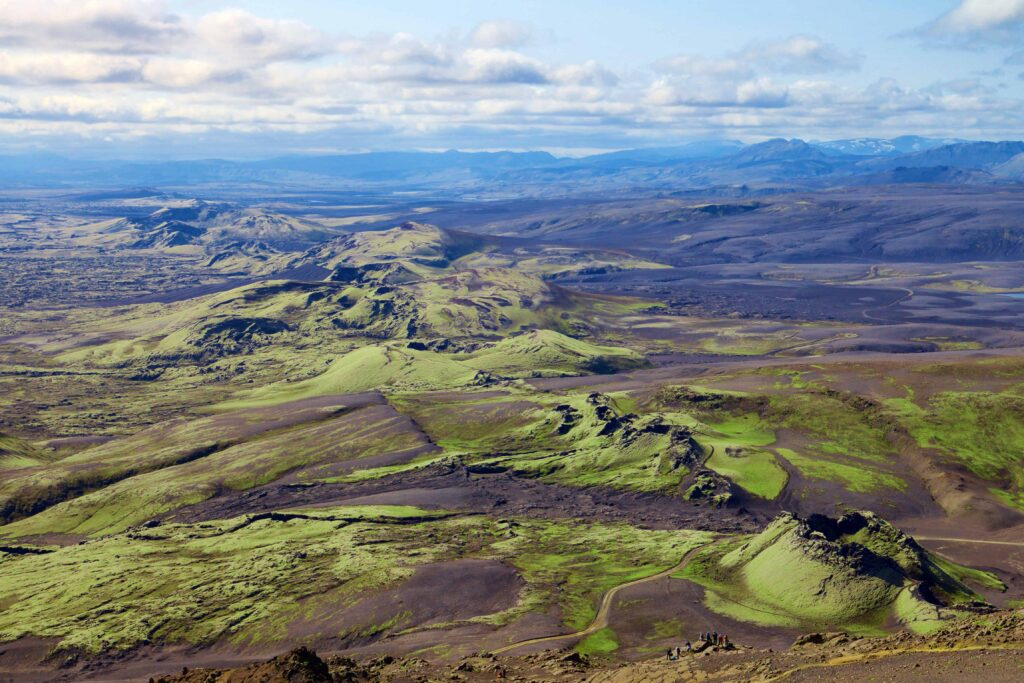 Lakagígar craters in the highlands of Iceland