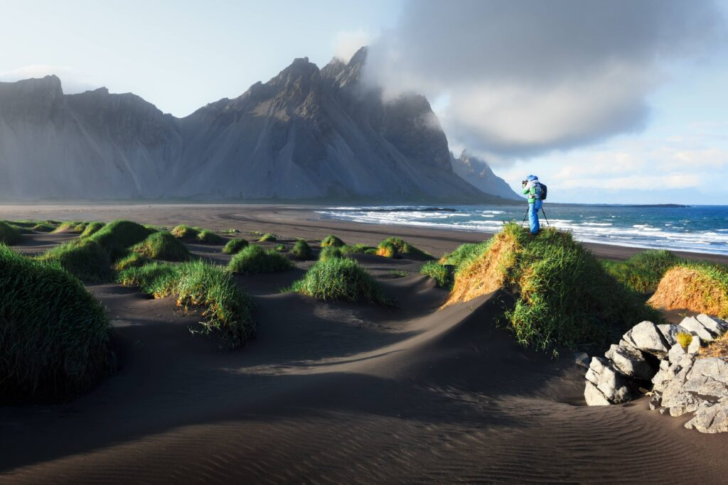 Photography in Iceland - Stokksnes black sand beach