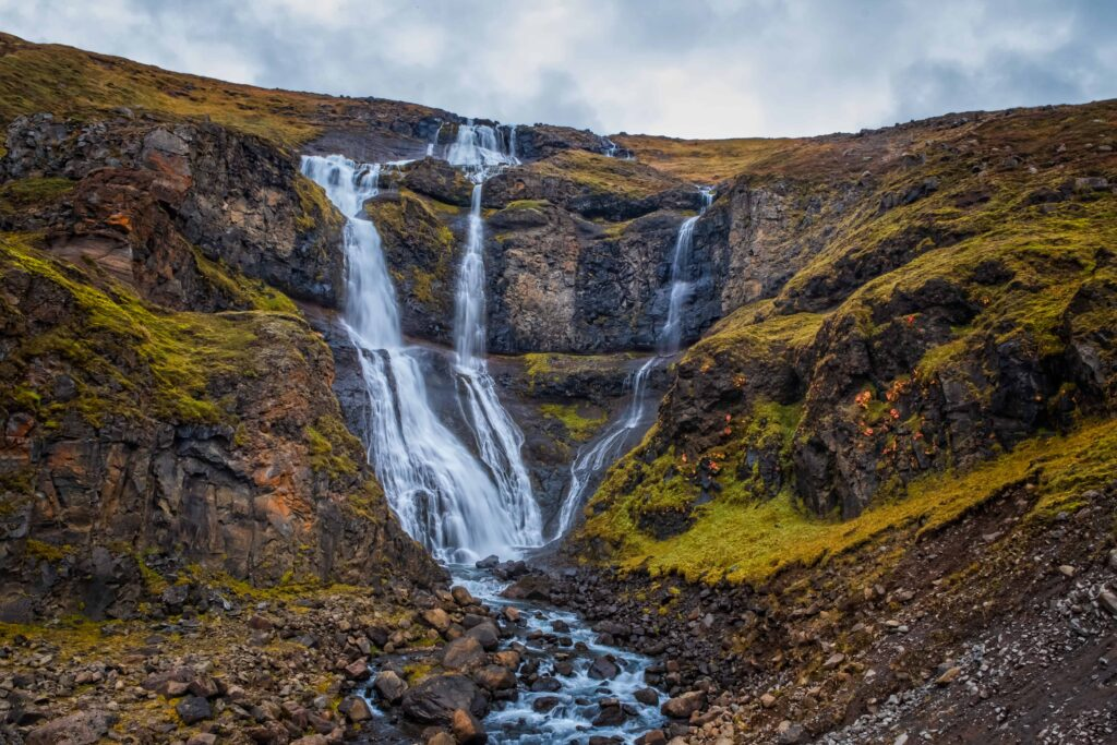 Rjúkandi waterfall in East Iceland