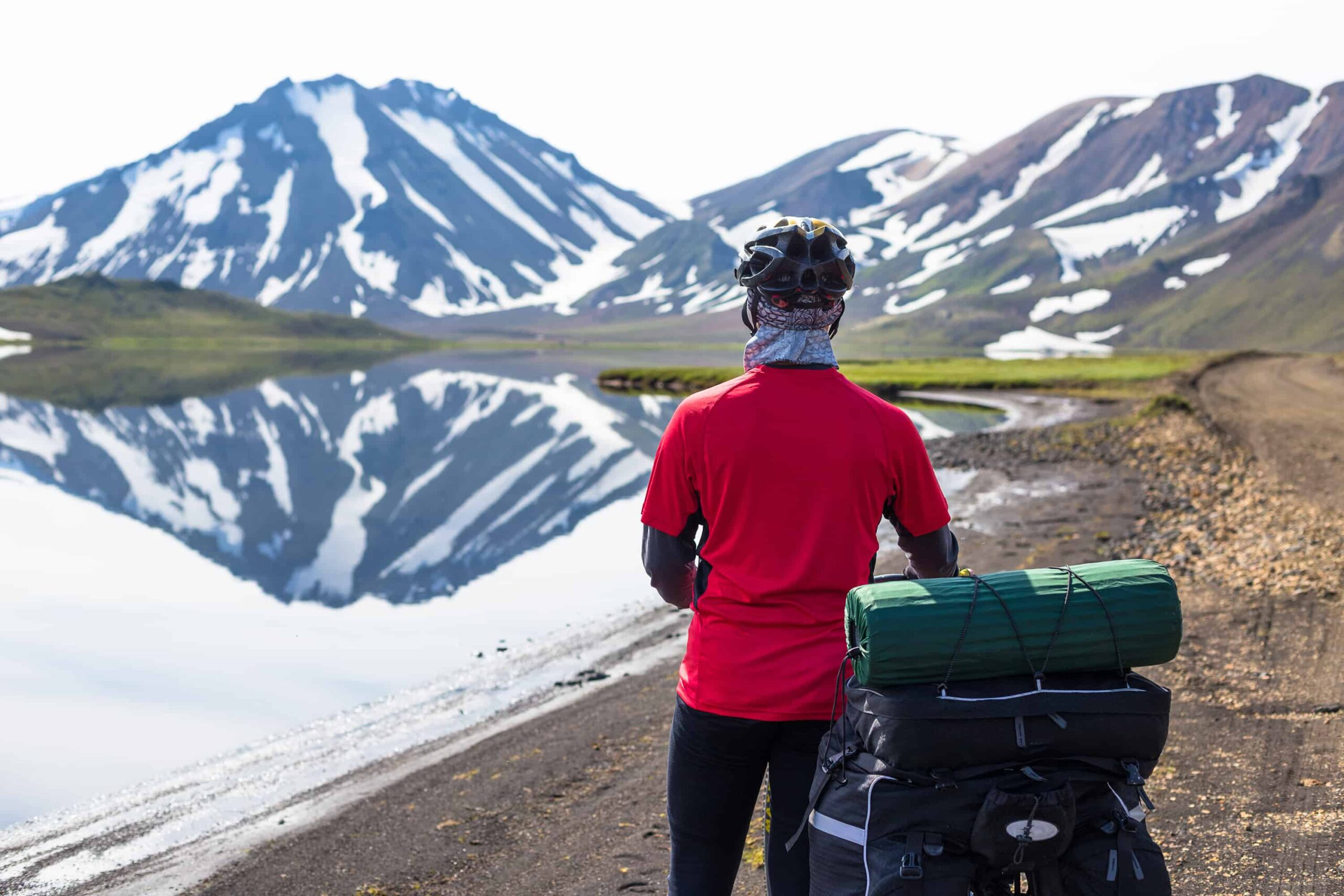 Cycling in the highlands of Iceland