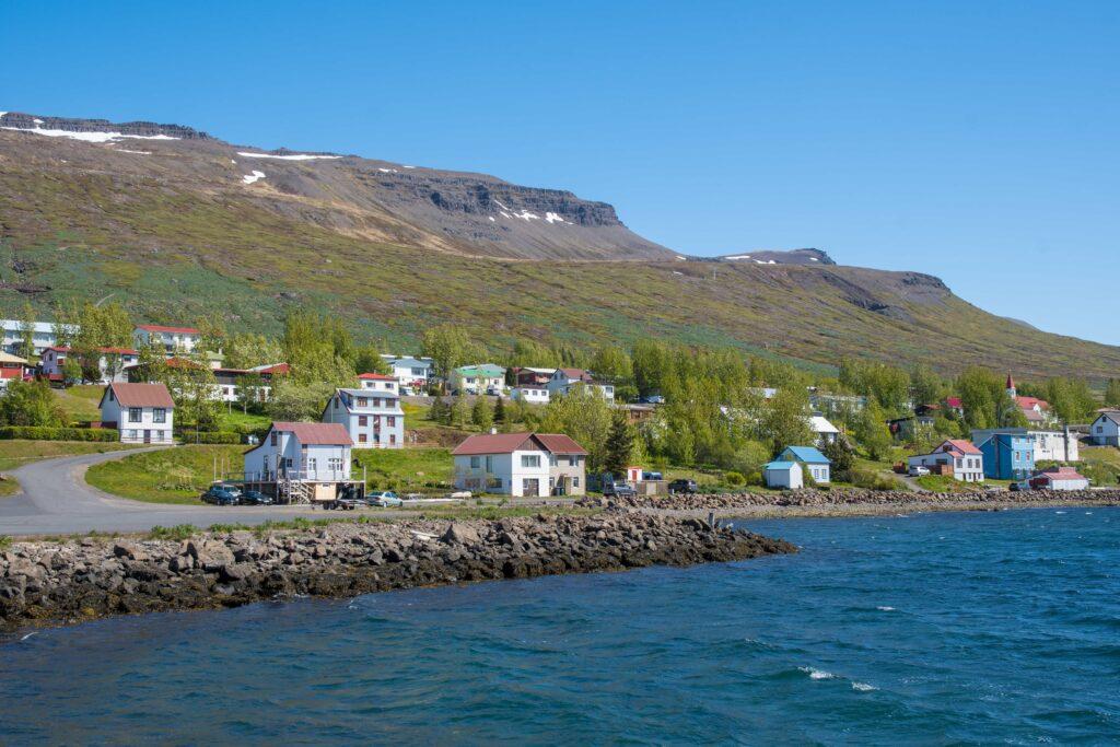 Fáskrúðsfjörður village in Eastfjords of Iceland