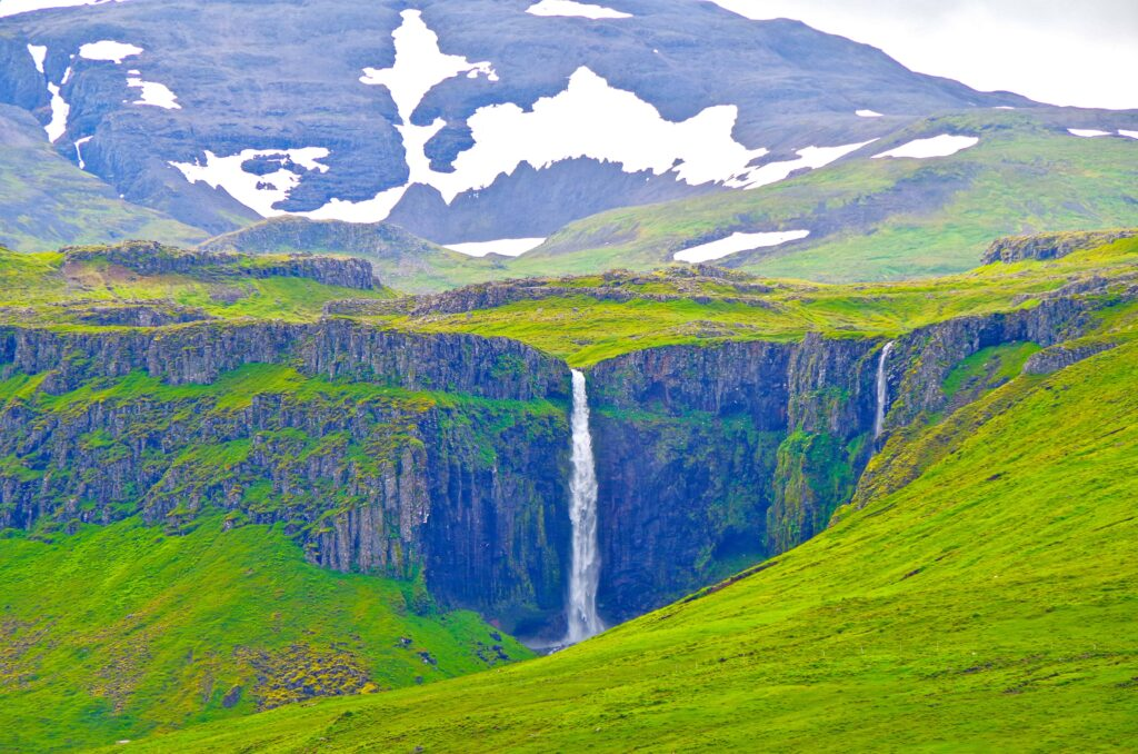 Grundarfoss waterfall in Snæfellsnes Peninsula