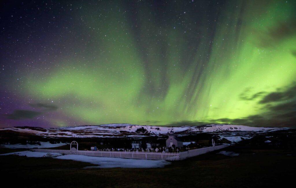 northern lights in Hvammstangi