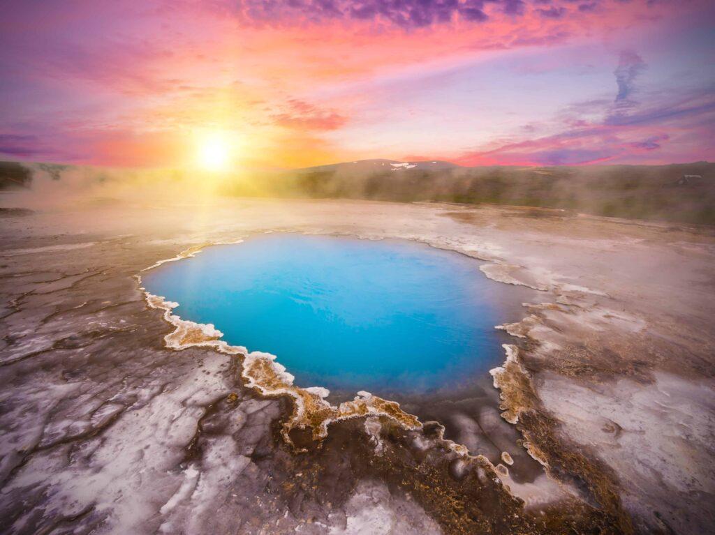 Hveravellir geothermal area in the highlands of Iceland
