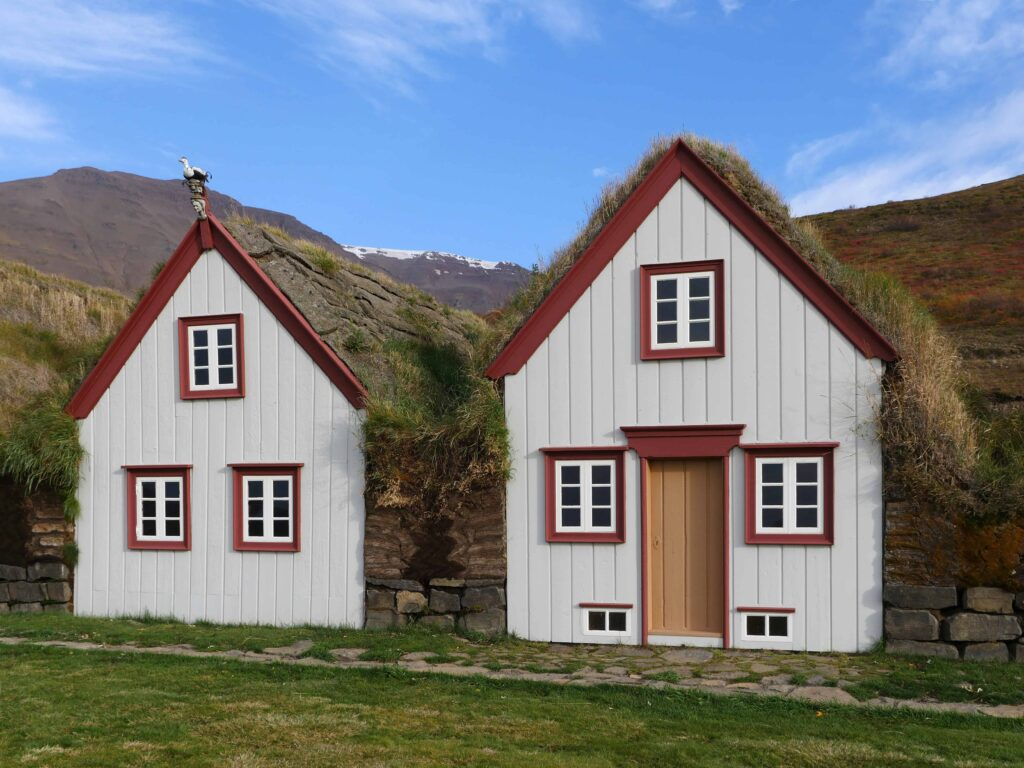 Laufás Turf Houses in north Iceland