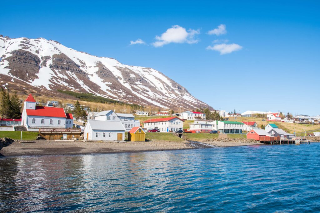 Neskaupsstaður village in the Eastfjords of Iceland