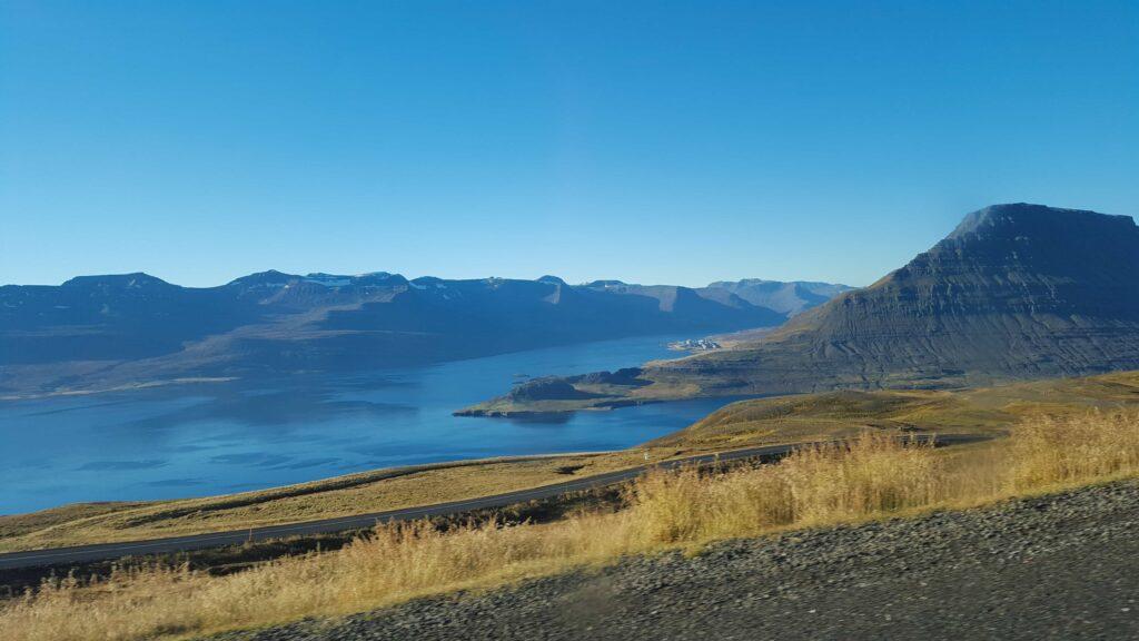 Reyðarfjörður village in Eastfjords of Iceland
