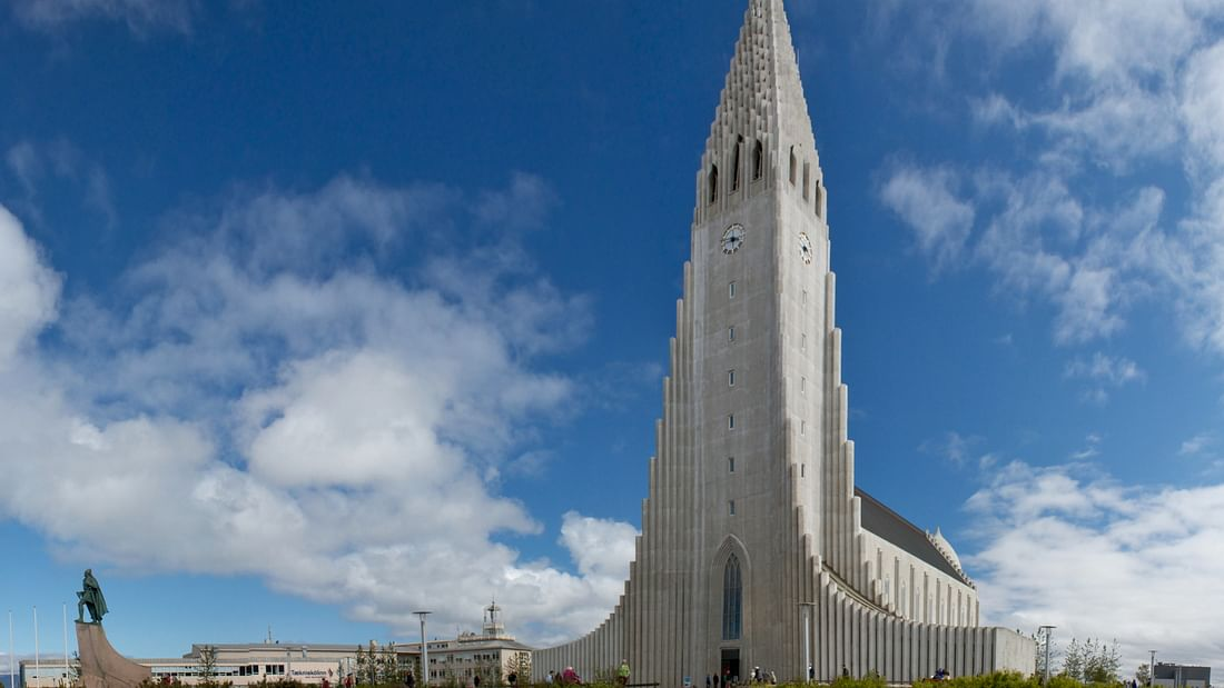 Hallgrímskirkja church on the Reykjavik Private Sightseeing tour