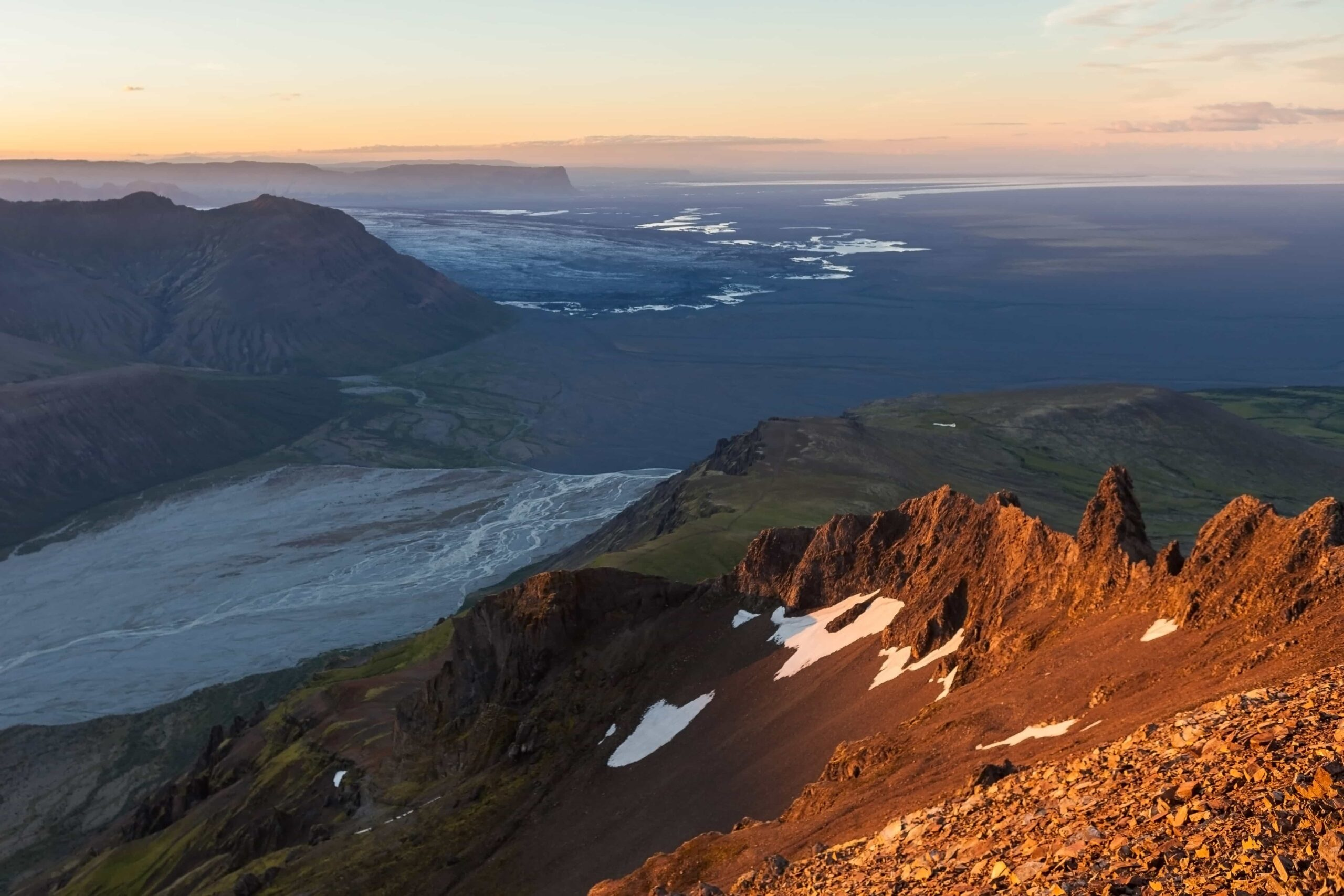 view from Kristínartindar - Skaftafell Nature Reserve
