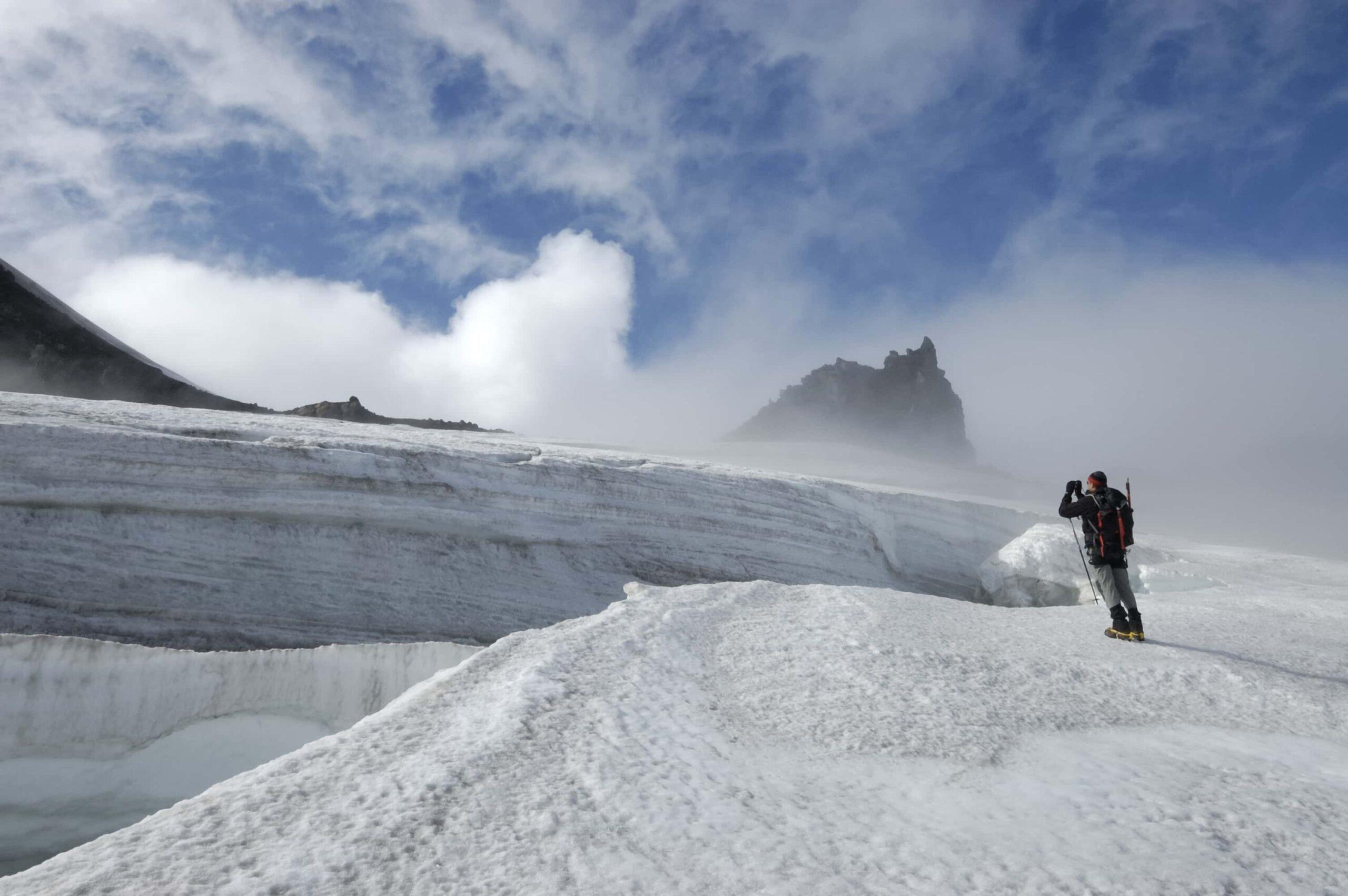 Snæfellsjokull glacier volcano in Snæfellsnes Peninsula