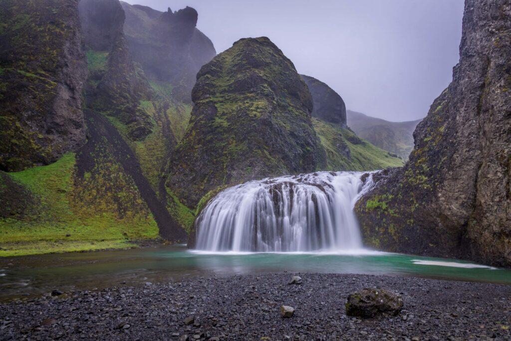 Stjórnarfoss waterfall - South Iceland