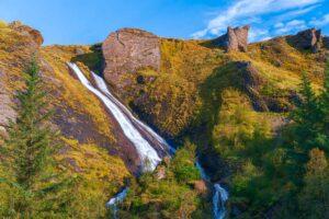 Systrafoss waterfall in Kirkjubæjarklaustur