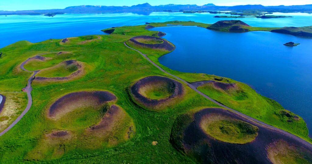 Skútustaðagígar craters in north Iceland