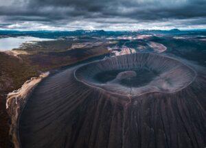 Hverfell Hverfjall - Volcano in Iceland