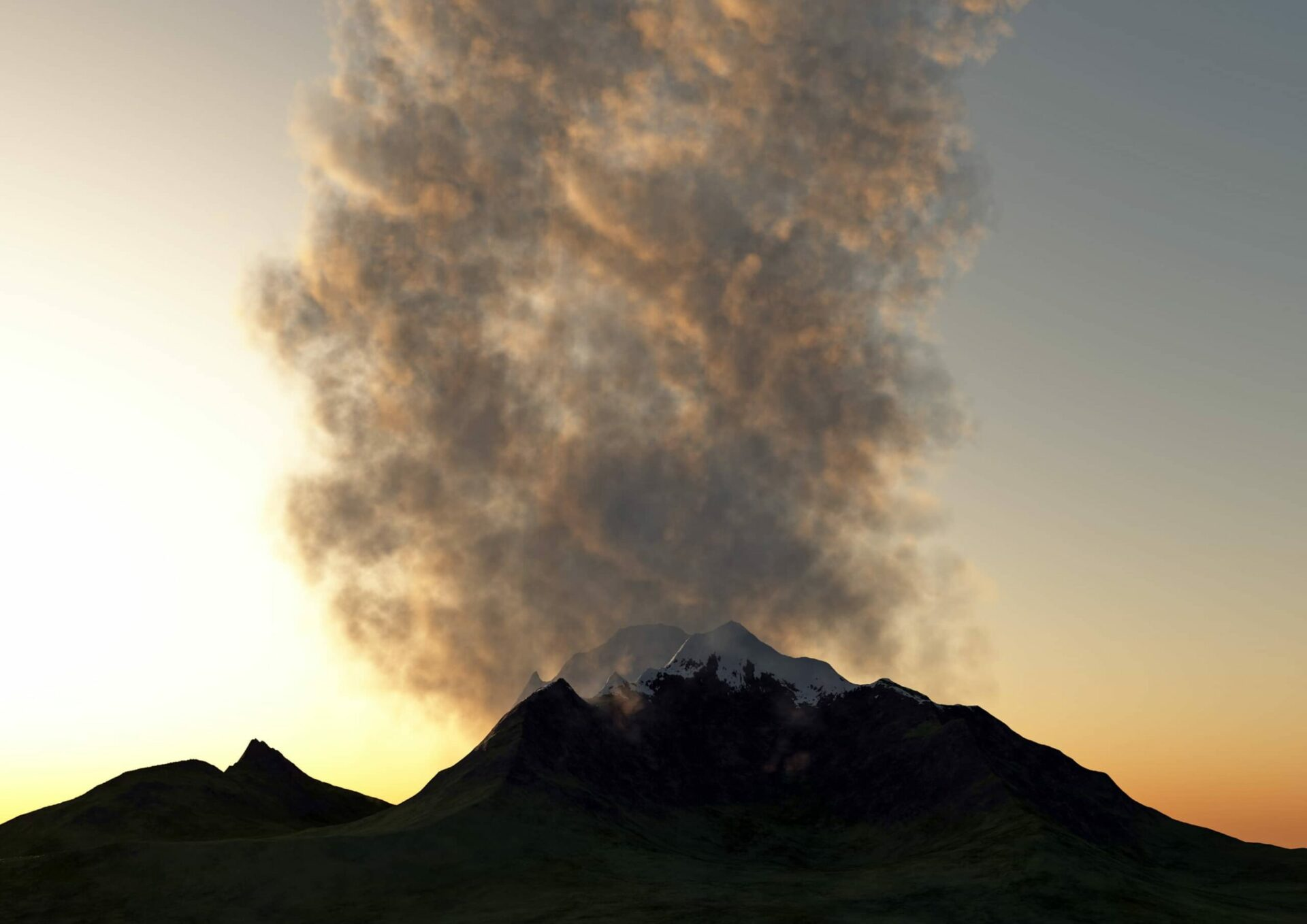 Grímsvötn Volcano in Iceland