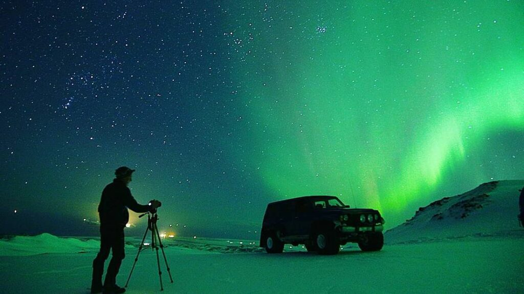 Eyjafjallajokull Northern Lights - Super Jeep