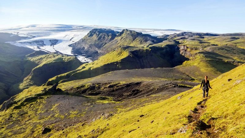 Þakgil and Remundargil canyons in south Iceland