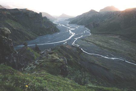 View over Þórsmörk in the Highlands of Iceland