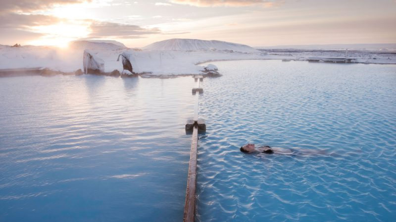 Myvatn Nature Baths in north Iceland