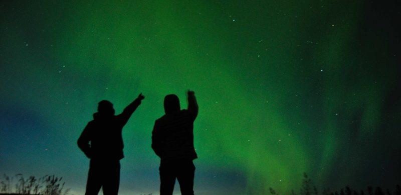 Northern Lights minibus tour in Iceland