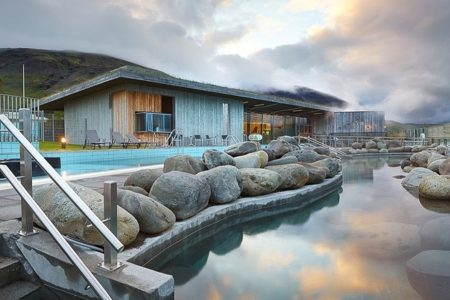 swimming pool and hot tubs at Laugarvatn Fontana hot springs