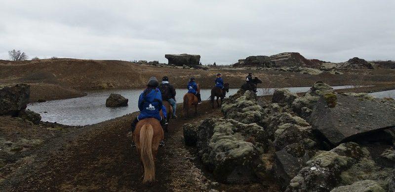 horse riding in Rauðhólar near Reykjavik